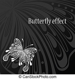 Text frame with abstract butterfly