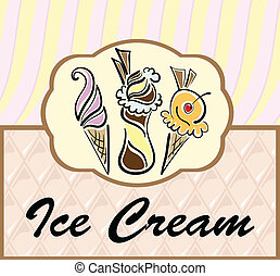 Text frame with abstract ice cream