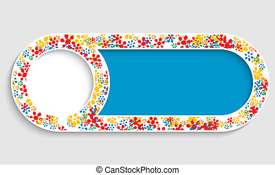 text frame with floral pattern
