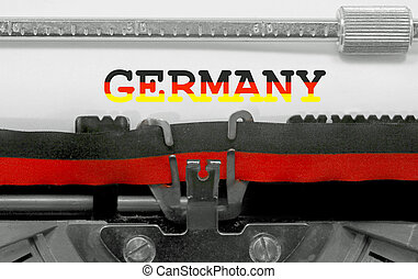 TEXT Germany with national colors flag
