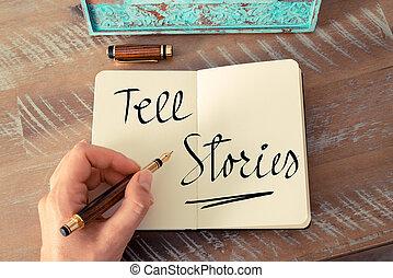 text, geschichten, erzählen, handgeschrieben