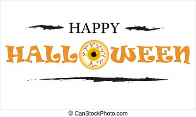 text happy halloween with eye - Text happy halloween with ...