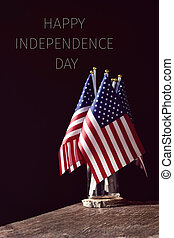 text happy independence day and american flags - some...