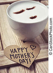 text happy mothers day in a heart
