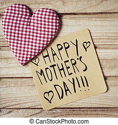 text happy mothers day in a note