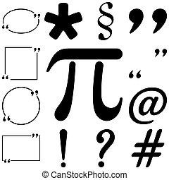 Text icons set. Flat style Vector illustration