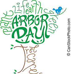 Arbor Day - Text Illustration Celebrating Arbor Day