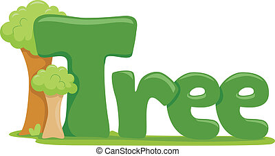 Tree - Text Illustration Featuring the Word Tree