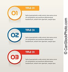 Text Infographic Templates for Business Vector Illustration with Flat colors