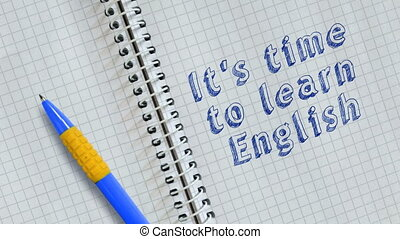It's time to learn english - Text It's time to learn english...