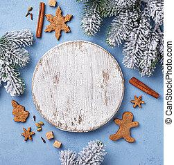 text, jul, bakgrund, utrymme