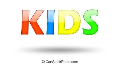 Text, Kinder, Briefe, Schatten, bunte