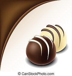 text, konstrukce, čokoláda