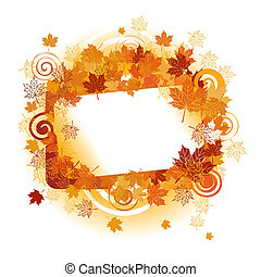 text, leaf., herbst, frame:, ort, here., dein, ahorn