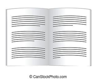 text., livro, desenho, ilustração