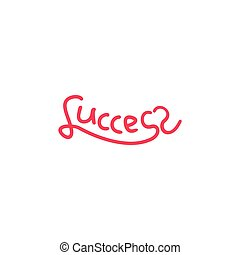 text love success hand lettering design vector