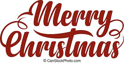 Text Marry Christmas - Red text Marry Christmas on white...