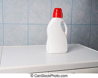 text., maschine, tag, sauber, wäscherei, flasche, reinigungsmittel, wäsche, raum, handtücher, innen