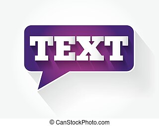 TEXT message bubble
