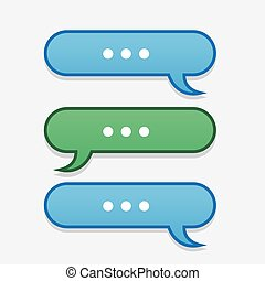 Text Message Bubbles Back and Forth - Text messages bubbles...