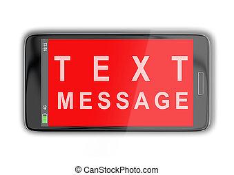 TEXT MESSAGE concept - 3D illustration of TEXT MESSAGE title...