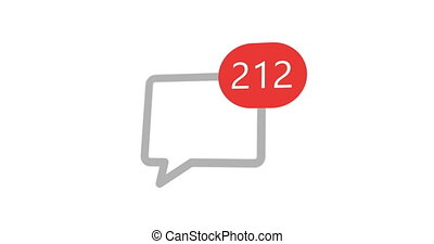 text message counter technology icon on white background. -...