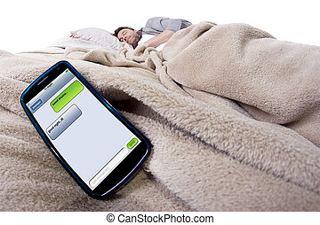 Text Messages In Bed