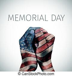 text, minnesmärke, amerikan flagga, dag