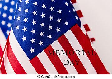 text, minnesmärke, flaggan, amerikan, dag