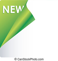 Text new on green background