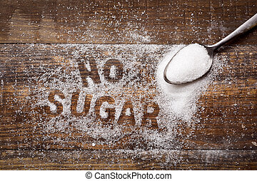 text no sugar written with sugar