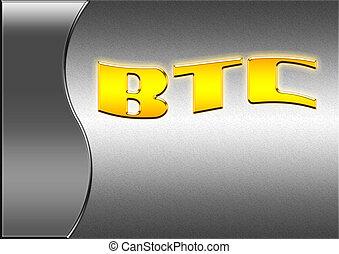 text., numérique, rendering., bitcoin, 3d