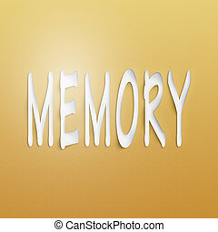 memory  - text on the wall or paper, memory