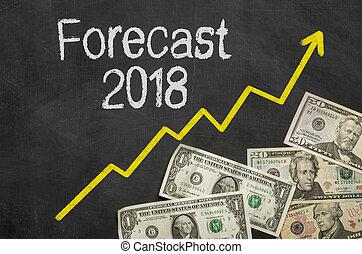 text, -, prognose, tafel, 2018, geld