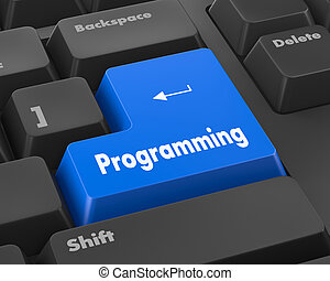 programming - Text programming button 3d render