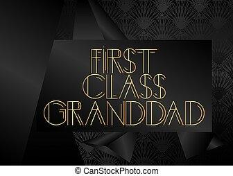 text., retro, clase, primero, granddad