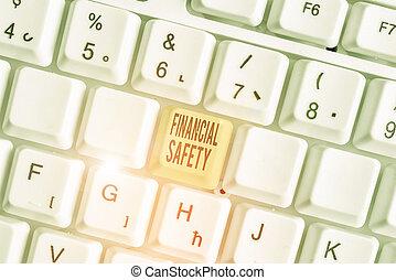 text, safety., goals., decke, geld, gespeichert, begrifflich, foto, ausstellung, finanziell, zeichen, genug, notfälle