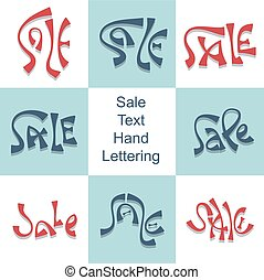 Sale hand lettering set discount price promo text