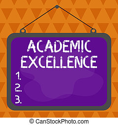 Text sign showing Academic Excellence. Conceptual photo ...