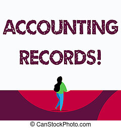 Text sign showing Accounting Records. Conceptual photo Manual or computerized records of assets and liabilities.
