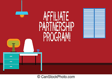 Text sign showing Affiliate Partnership Program. Conceptual...