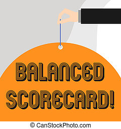 Text sign showing Balanced Scorecard. Conceptual photo a ...