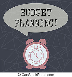 Text sign showing Budget Planning. Conceptual photo Financial Planning Evaluation of earnings and expenses.