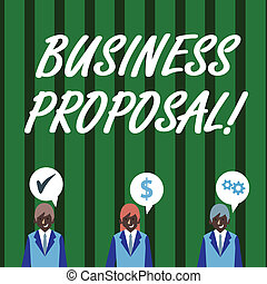 Text sign showing Business Proposal. Conceptual photo...