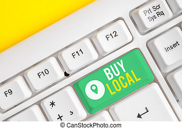 Text sign showing Buy Local. Conceptual photo Patronizing ...