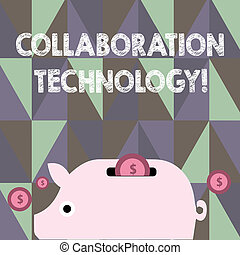 Text sign showing Collaboration Technology. Conceptual photo...