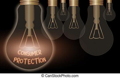 Text sign showing Consumer Protection. Conceptual photo Fair...