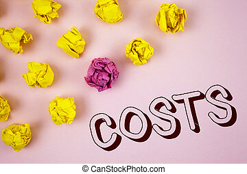 Text sign showing Copyright Motivational Call. Conceptual photo Finance department showcase the total production calculation written on plain Pink background Crumpled Paper Balls next to it.