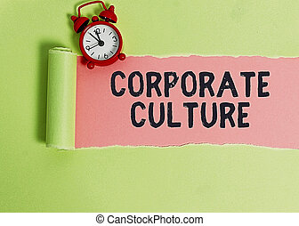 Text sign showing Corporate Culture. Conceptual photo ...