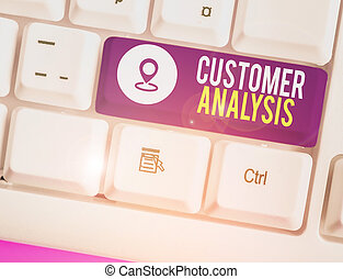 Text sign showing Customer Analysis. Conceptual photo systematic examination of a company s is customer information.